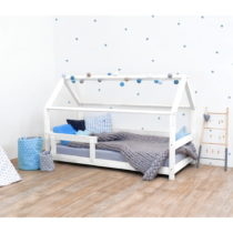 Biela detská posteľ s bočnicami zo smrekového dreva Benlemi Te...