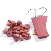 Set 34 doplnkov do šatníkovej skrine z cédrového dreva Compacto...