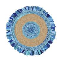 Okrúhly koberec z juty a bavlny Garida Aqua, ⌀ 120 cm