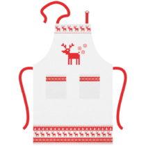 Bavlnená kuchynská zástera s vianočným motívo...
