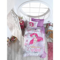 Bavlnené obliečky na jednolôžko Fairy, 160×...