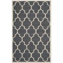 Tmavosivý vlnený koberec Everly 152×243 cm