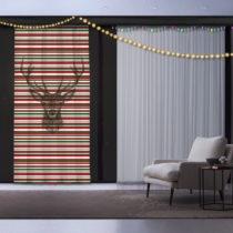 Záves Christmas Deer, 140 x 260 cm