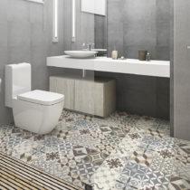 Vodoodolná samolepka na podlahu Ambiance Brown Style, 100×60&a...