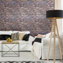 Nástenná samolepka Ambiance Wall Decal Materials Stone Facing of Torrerdam, 40&...