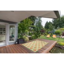Zelený vysokoodolný koberec vhodný do exteriéru Floorita Greca G...