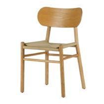 Prírodná jedálenská stolička z gumovníkov&...