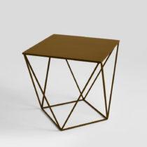 Odkladací stolík v zlatej farbe Custom Form Daryl, 60 × 60 cm