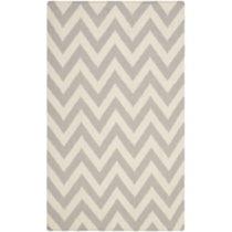 Sivý vlnený koberec Nellaj 76×182 cm