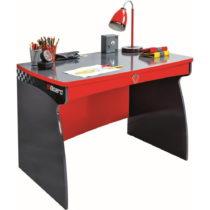 Červený pracovný stôl Champion Racer Study Desk