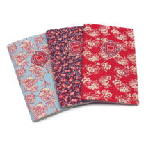 Sada 3 zápisníkov Makenotes Floral Quilt