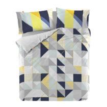 Bavlnená obliečka na paplón Blanc Geo Dot, 220 × 220 cm