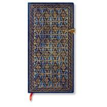 Linkovaný zápisník s tvrdou väzbou Paperblanks Blue Rhine, 9,5 x...