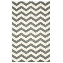 Sivo-biely vlnený koberec Crosby Middle Grey, 152×243 cm