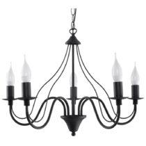 Čierne stropné svetlo Nice Lamps Floriano 5