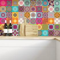 Sada 60 dekoratívnych samolepiek na stenu Ambiance Flow, 20×20...