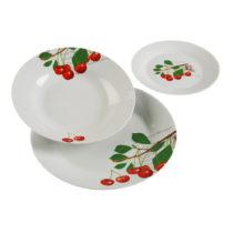 18-dielny set tanierov z porcelánu Versa Cherry