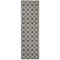 Sivý behúň s bielymi detailmi Hanse Home Joanne, 80×&...
