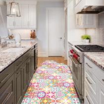 Sada 10 samolepiek na podlahu Ambiance Floor Stickers Hexagons Lusiana, 40×&#...