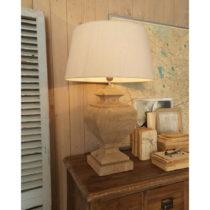 Stolná lampa z mangového dreva Orchidea Milano Marco, ⌀ 50 cm