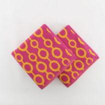 Sada 2 osušiek Crazy Vibes Orange, 50×100cm