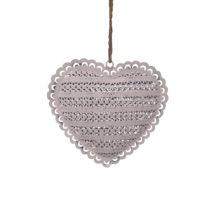 Dekoratívne závesné srdce Antic Line Heart, 14 cm