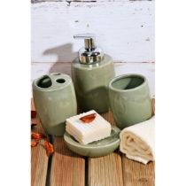 Zelený kúpeľňový set z keramiky