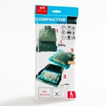 Sada 2 modrých vákuových obalov na oblečenie Compactor, 100&...