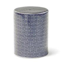Modro-strieborná keramická stolička Thai Natura, 33×&...