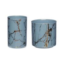Sada 2 porcelánových svietnikov Hübsch Genere
