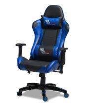 Čierno-modrá kancelárska stolička Furnhouse Gaming