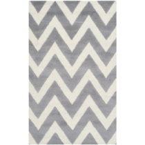 Sivobiely vlnený koberec Stella Grey, 91×152 cm