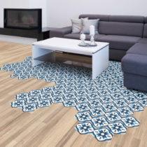 Sada 10 samolepiek na podlahu Ambiance Floor Stickers Hexagons Felica, 40×&#x...