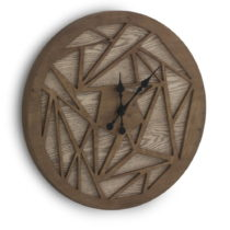 Hnedé nástenné hodiny Geese Time Traveller, Ø 60 cm