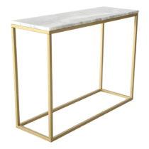 Mramorový konzolový stolík s konštrukciou vo farbe mosadze RGE ...