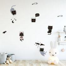Sada nástenných detských samolepiek Ambiance Scandinavian Animals Cosmona...