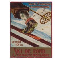 Nástenná ceduľa Antic Line Ski de Font, 25 x 33 cm