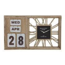 Stolové hodiny s kalendárom Mauro Ferretti Travel Day, 50×&...