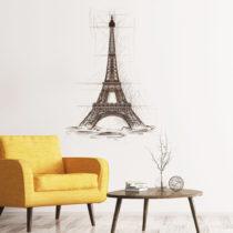 Nástenná samolepka Ambiance Wall Decal Eiffel Tower Drawing, 85&#xD7...