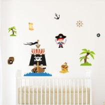 Detská samolepka na stenu Ambiance Pirate