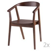 Sada 2 jedálenských stoličiek vdekore orechového drev...