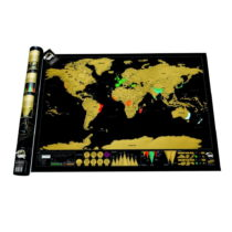Zoškrabávacia mapa sveta Luckies of London Deluxe Edition