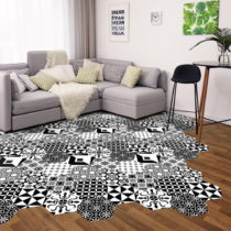 Sada 10 samolepiek na podlahu Ambiance Floor Stickers Hexagons Nemesio, 40×&#...