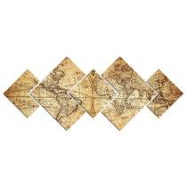 Viacdielny obraz Map of World, 120×50 cm