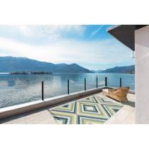 Zeleno-modrý vysokoodolný koberec vhodný do exteriéru Floorita R...