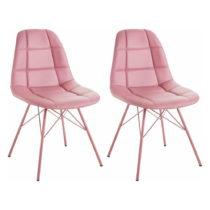 Sada 2 ružových stoličiek Støraa Sting