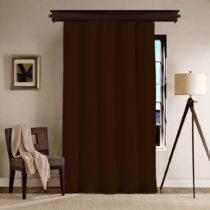 Tmavohnedý záves Curtain Nero, 140×260 cm