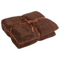 Hnedá deka z mikrovlákna DecoKing Henry, 150×200&...
