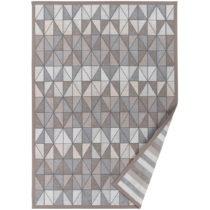 Sivo-béžový vzorovaný obojstranný koberec Narma Treski...