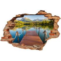 Samolepka Ambiance Panorama Mountain Lake, 60×90 cm